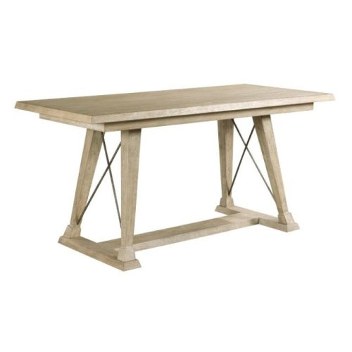 Clayton Counter Height Trestle Table-complete