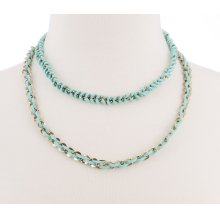 BTQ Burnished Gold Double Chain Necklace
