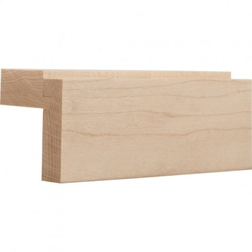 """2-1/8"""" x 2"""" """"Shaker"""" Style Light Rail Moulding , Species Alder Priced by the linear foot and sold in 8' sticks in cartons quantities of 64'."""