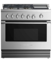 "RGV2364GDN-Gas Range 36"", 4 Burners with Griddle - NATURAL GAS DISPLAY- ONLY AT JONESBORO LOCATION!"