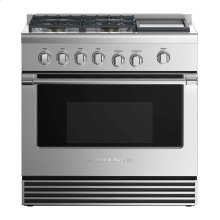 """Gas Range 36"""", 4 Burners with Griddle"""