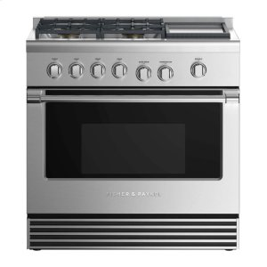 "Fisher & PaykelGas Range 36"", 4 Burners With Griddle"