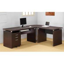 Skylar Contemporary Cappuccino Computer Desk