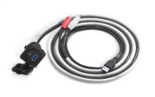 Combo 3.5 mm Audio Jack and 9 Wire USB Port for Panel-Mounting