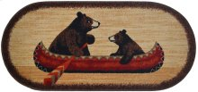 """Cozy Cabin Bear Canoe 20""""x44"""" Oval"""