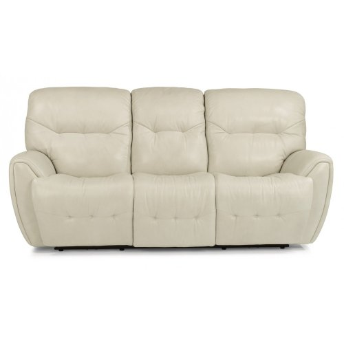 Blaise Leather Power Reclining Sofa with Power Headrests