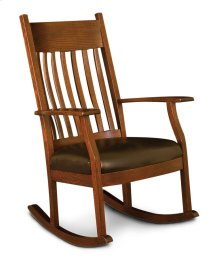Oakland Slat Rocker, Leather Cushion Seat