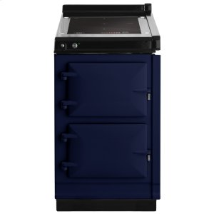"""AGAAGA Hotcupboard 20"""" Induction Dark Blue with Stainless Steel trim"""