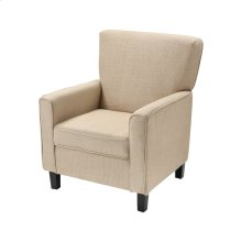 Melcher Tan Linen Chair With Black Legs