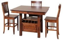 "45/52-2-12"" Rectangular Gathering Cafe Table with Drawer"