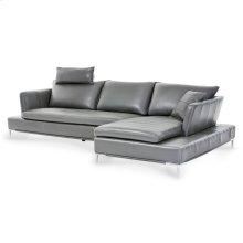 Lazzio 2 PC Leather Sectional Set