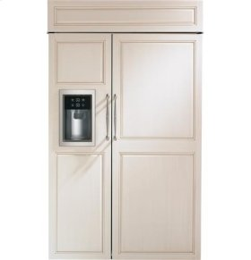 """48"""" Built-In Side-By-Side Refrigerator with Dispenser"""