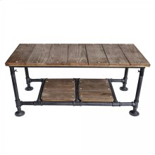 Armen Living Kyle Industrial Coffee Table