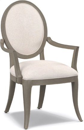 Darling Upholstered Oval Back Arm Chair