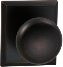 Interior Traditional Knob Latchset with Rectangular Rose in (TB Tuscan Bronze, Lacquered)