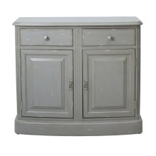 Grey Distressed Door Cabinet