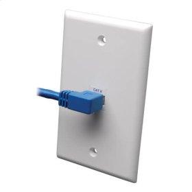 Cat6 Gigabit Molded Patch Cable (RJ45 Left Angle M to RJ45 M) - Blue, 3-ft.