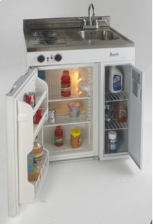 "Model CK30-2 - 30"" Complete Compact Kitchen with Refrigerator"