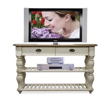 Coventry Console Table Weathered Driftwood/Dover White finish