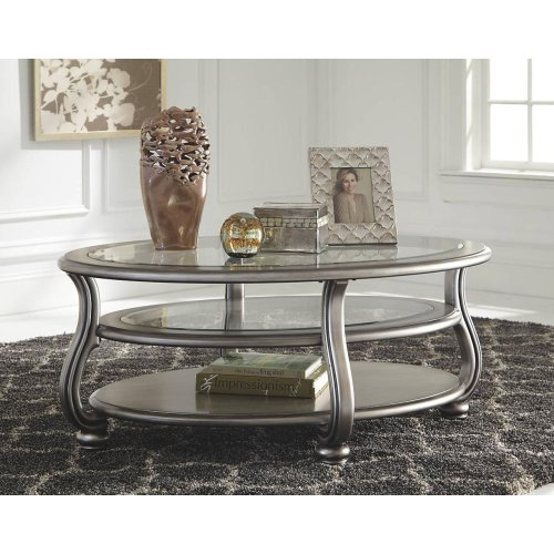 T820-0  Oval Cocktail Table