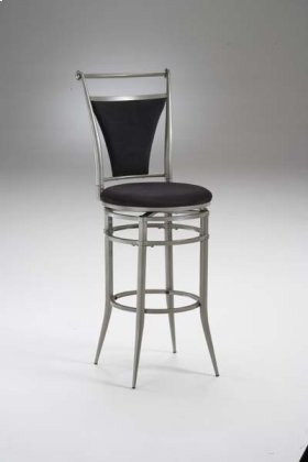 Cierra Swivel Counter Stool Pewter and Black