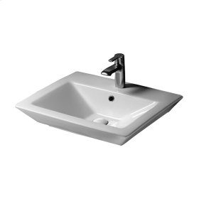 """Opulence 23"""" Above Counter Basin - """"His"""" - White"""