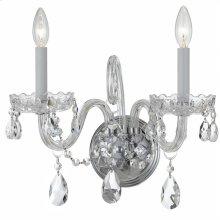 Traditional Crystal2 Light Clear Crystal Chrome Sconce I