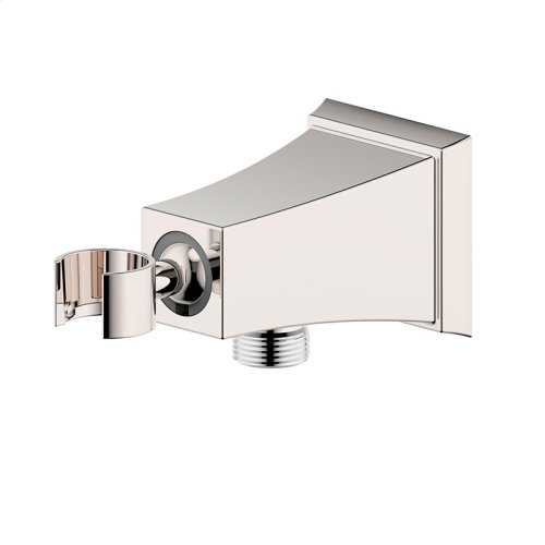 Hand Shower Wall Bracket with Outlet Leyden (series 14) Polished Nickel