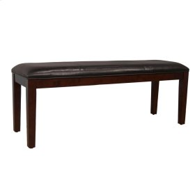 Upholstered Bench-Brown