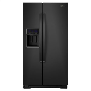 36-inch Wide Side-by-Side Refrigerator - 28 cu. ft. - BLACK