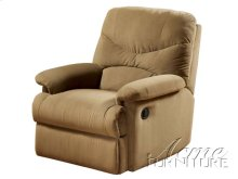 Arcadia Microfiber Light Brown Finish Glider Recliner Set