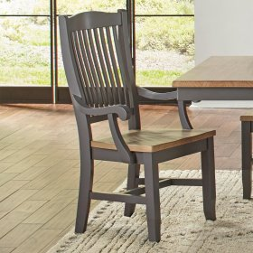 SLATBACK ARM CHAIR