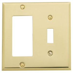 Polished Brass Beveled Edge GFCI / Single Toggle Combo Product Image