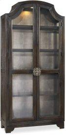Sanctuary Glass Bunching Curio-Ebony Antiqued Oak Product Image