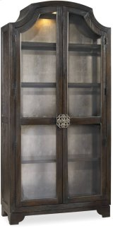 Sanctuary Glass Bunching Curio-Ebony Antiqued Oak Product Image