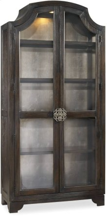 Sanctuary Glass Bunching Curio-Ebony Antiqued Oak