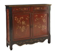 Red Oriental 2-Door Console Product Image