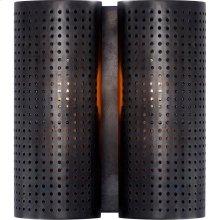 Visual Comfort KW2063BZ Kelly Wearstler Precision 2 Light 8 inch Bronze Sconce Wall Light, Kelly Wearstler