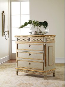 Painted Regency Chest, Hand Painted Finish. Gold Leaf Detailing.
