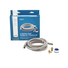 Smart Choice 6' Stainless Steel Refrigerator Waterline Kit