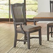 SLATBACK ARM CHAIR - UPH SEAT