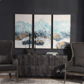 Crashing Waves Hand Painted Canvases