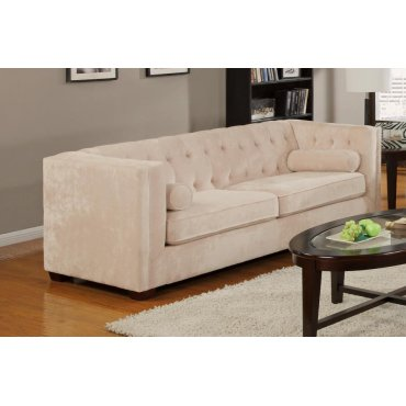 Alexis Transitional Almond Sofa