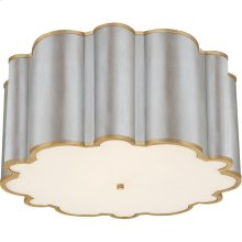 Visual Comfort AH4021BSL/G-FA Alexa Hampton Markos 4 Light 26 inch Burnished Silver Leaf with Gild Flush Mount Ceiling Light, Grande