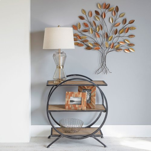 Three Tier Circle Floor Shelf