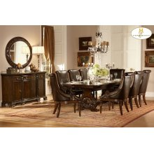 TRESTLE DINING TABLE, WARM CHERRY
