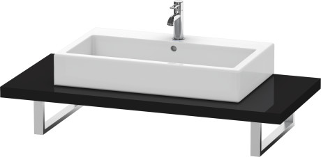 Console For Above-counter Basin And Vanity Basin, Black High Gloss Lacquer