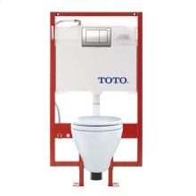 Aquia® Wall-Hung Toilet & DUOFIT™ In-Wall Tank System, 1.6 GPF & 0.9 GPF, Elongated Bowl - Cotton