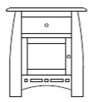 Hayworth 1 Door 1 Drawer Nightstand
