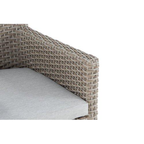 Emerald Home Reims Arm Dining Chair Spuncrylic 7101-71 Sketch Grey Od1207-20-09